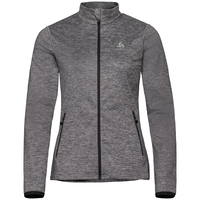 Women's ALAGNA Full-Zip Midlayer Top, odlo graphite grey melange, large