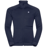 Midlayer full zip ODDVAR, diving navy, large