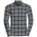 Men's FAIRVIEW Long-Sleeve Shirt, climbing ivy - snow white - black - check, large