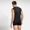 Men's PERFORMANCE LIGHT Base Layer Singlet, black, large