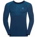Men's PERFORMANCE LIGHT Long-Sleeve Baselayer Top, estate blue - blue aster, large