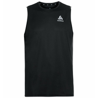 Men's ESSENTIAL Base Layer Running Singlet, black, large