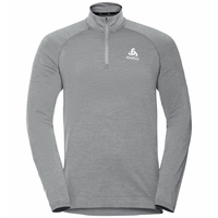 Men's MILLENNIUM YAKWARM Half-Zip Long-Sleeve Midlayer Top, grey melange, large