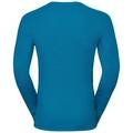 SUW Top Crew neck l/s ACTIVE ORIGINALS Warm GOD JUL PRINT, blue jewel, large