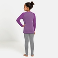 ACTIVE WARM ECO KIDS Baselayer Set, hyacinth violet - grey melange - stripes, large