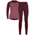 Women's ACTIVE WARM ECO Base Layer Set, zinfandel - roan rouge, large