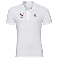 Polo shirt s/s TRIM FAN France, white, large