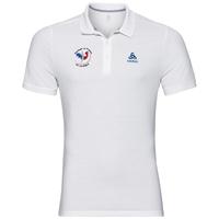 Polo shirt s/s TRIM FAN France, white, large