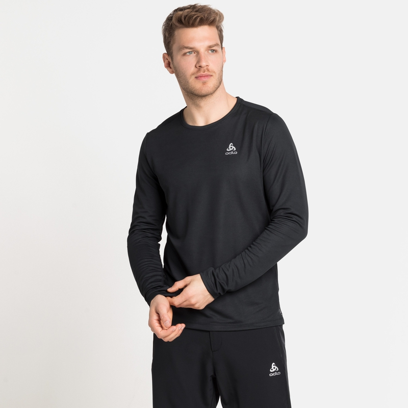 Herren F-DRY Langarm-Shirt, black, large