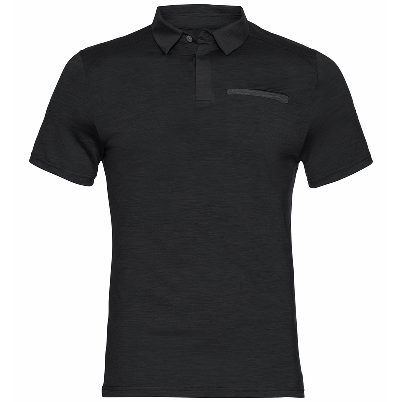 CONCORD NATURAL-poloshirt voor heren, black, large