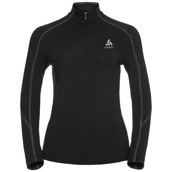 Stand-up collar l/s 1/2 zip SILLIAN, black, large
