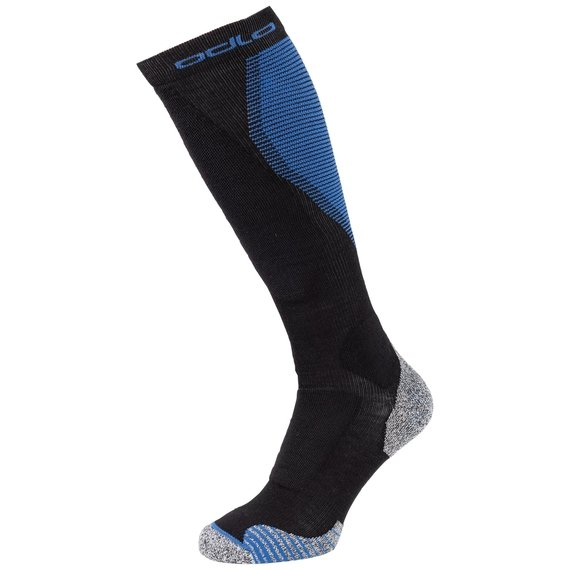 CERAMIWARM Ski Over-the-Calf Socks, black - directoire blue, large
