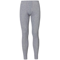 WARM Baselayer pants with fly, grey melange, large