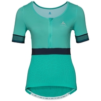 Stand-up collar s/s 1/2 zip CERAMICOOL X-LIGHT, pool green, large