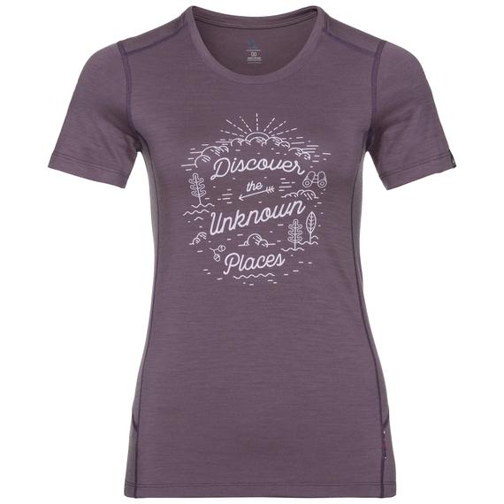 Damen ALLIANCE T-Shirt, vintage violet - outdoor print FW18, large