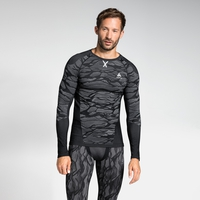 Maglia Base Layer a manica lunga BLACKCOMB da uomo, black - odlo steel grey - silver, large