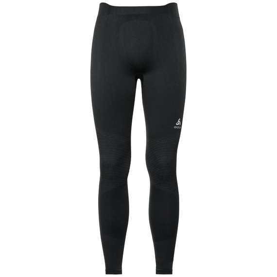 Herren PERFORMANCE WARM Funktionsunterwäsche Hose, black - odlo concrete grey, large