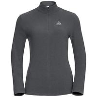 Pull ½ zippé ROY pour femme, shale grey - black stripes, large