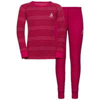 Completo ACTIVE WARM KIDS per bambini, cerise - fruit dove - stripes, large