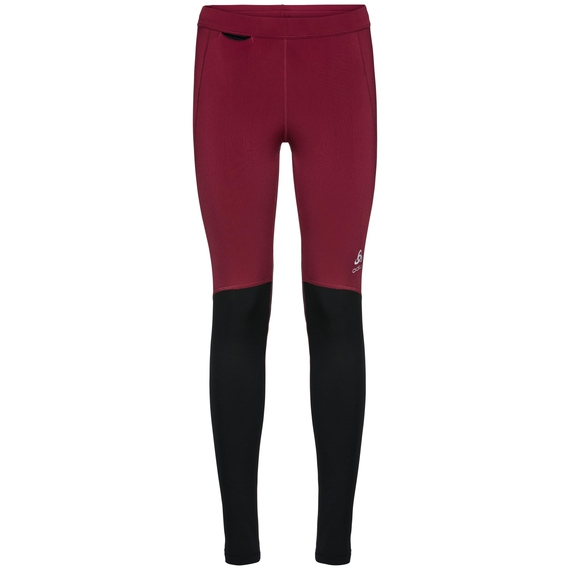 Tights XC Light, rumba red - black, large