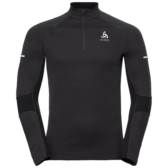 Midlayer 1/2 zip OMNIUS Warm, black, large