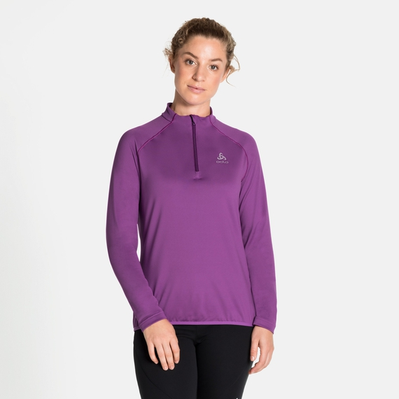 Damen CARVE LIGHT Midlayer mit 1/2 Reißverschluss, hyacinth violet, large