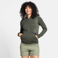 Women's HALDEN Full-Zip Midlayer, climbing ivy melange, large