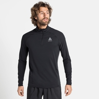 Men's ZEROWEIGHT CERAMIWARM Half-Zip Long-Sleeve Midlayer Top, black, large
