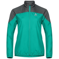 Damen ELEMENT LIGHT Jacke, pool green - odlo graphite grey, large