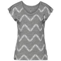 BL top girocollo m/c ALLIANCE KINSHIP, grey melange - placed print FW18, large