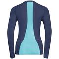 Langärmeliges CeramiCool Pro Baselayer Shirt Damen, peacoat - blue radiance, large