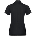 Polo shirt s/s TINA CITY, black - SWISS flag, large
