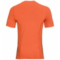Shirt s/s crew neck Ceramicool, orangeade - blue opal, large
