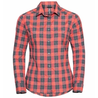MYTHEN-blouse met lange mouwen voor dames, siesta - grey melange, large