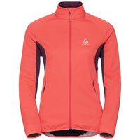 STRYN cross-country softshell jacket, hot coral - pickled beet, large