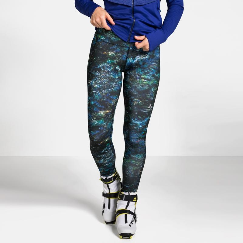 Women's MILLENNIUM Tights, black multicolour AOP FW19, large