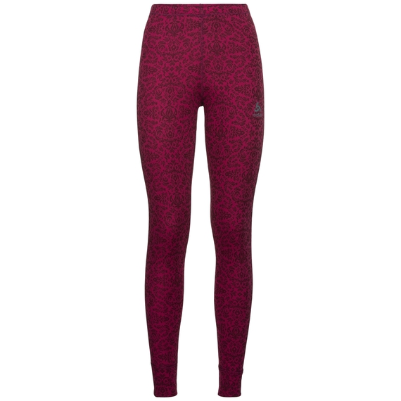 SUW Bottom Pant ACTIVE ORIGINALS Warm GOD JUL PRINT, sangria AOP, large