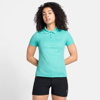 Damen F-DRY Poloshirt, jaded, large