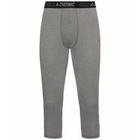 Men's ACTIVE THERMIC 3/4 Base Layer Bottoms, grey melange, large