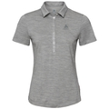 Polo s/s SHELBY, grey melange, large