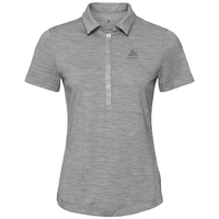 Polo manches courtes SHELBY, grey melange, large