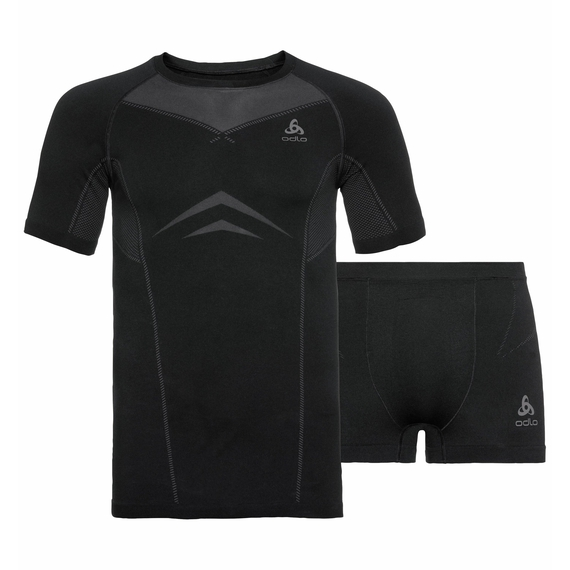 Ensemble sous-vêtements PERFORMANCE EVOLUTION pour homme, black - odlo graphite grey, large