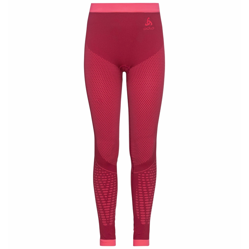 PERFORMANCE WARM KIDS' Base Layer Pants, deep claret - siesta, large