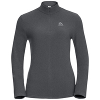Women's ROY 1/2 Zip Midlayer, shale grey - black stripes, large
