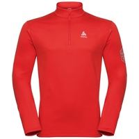 Men's CAVRADI 1/2 Zip Midlayer, fiery red, large