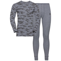 Men's X-MAS ACTIVE WARM Set, grey melange - AOP2 FW19, large