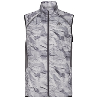Vest ZEROWEIGHT, odlo graphite grey - paper print SS19, large