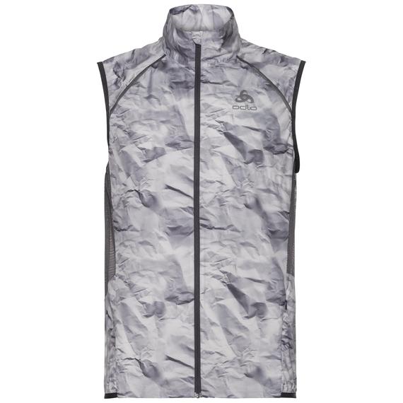 Vest ZEROWEIGHT, odlo graphite grey - paper print SS19, large