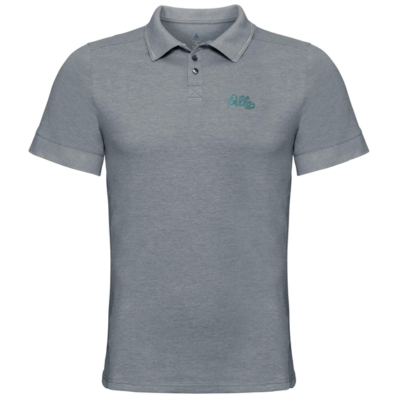 NIKKO Poloshirt, dark slate melange, large