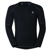 Men's ACTIVE X-WARM Long-Sleeve Baselayer Top, black, large